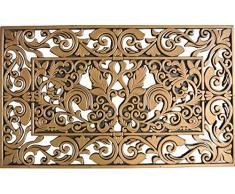 ID opaco 4575 ebano, colore: bronzo antico-Tappeto Zerbino gomma, 75 x 45 x 0,8 cm