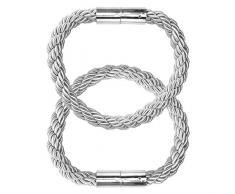 MAIKEHOME - 2 fermatende magnetiche da 21,7 cm, fermatenda, fermatenda, fermatenda per finestre Grigio