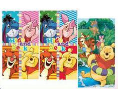Disney Winnie Pooh - Set di 3 asciugamani per bambini, dimensioni pezzo singolo: 35 x 65 cm