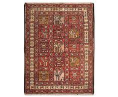 Morgenland KELIM - Tappeto Orientale, Tessuto a Mano, in Lana, 92 x 70 cm, Colore: Rosso