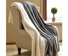 doppia coperta/ spessa coperta calda/Coperta in cashmere faux/ inverno coperte/ Corallo tappeto/Coperta matrimoniale singolo/ coperta-A 150*200cm(59x79inch)
