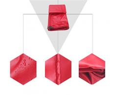 Sarazong Telo di Copertura in Tela Cerata Rossa Telo di Copertura in Tela Cerata Impermeabile per pavimentazione in Stoffa Impermeabile Fatto di 450 Grammi/Metro Quadro (Rosso),2 * 1.5m