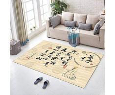LYJ Stile Cinese Decorazione d'Arte Tappeto Stile Cinese Tappeto Home Deco Tappeto da Terra Slittata / KJ8 / 120 * 180cm