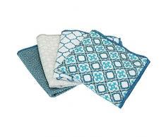 Set di Design microfibra asciugamani spuel Blu/Turchese. Panno per la pulizia panno in microfibra set/risciacquo-straccio, PULIZIE DI Presina. saugs Tark, lavabile