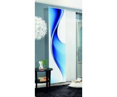 Home fashion Bristol Tenda a Pannello, Poliestere, Blu, 245 x 60 cm