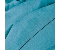 La Redoute Interieurs Copripiumone In Puro Lino Lavato Taglia 240 Blu