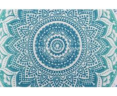 mandala indiano copertura del cuscino copricuscino, 16 x 16, in cotone cuscino quadrato casi, etnici cuscini del divano, cuscino decorativo Pattern-5
