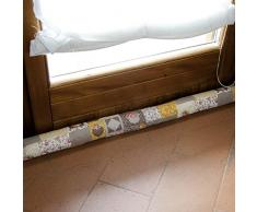 Paraspifferi per porte e finestre con tessuto imbottito di fantasie varie