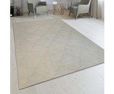 Realizzato A Mano Soggiorno Tappeto Design Marocchino Oriente Monocolore Crema, Dimensione:80x150 cm