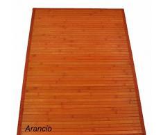 Bambù liscio tappeto passatoia cm 60x240 [ARANCIO]