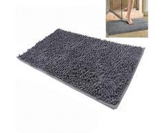 Microfibra Shag Bagno non stuoia di slittamento da bagno Tappeti Mats morbido tappeto bagno 20x32 pollici per bagno, Cucina, Vasca da bagno e camera da letto, Dahen (grigio)