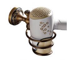 Casewind porta asciugamano, color bronzo, costruito in ottone di qualità, in stile antico con la fantasia delle onde sulla base. Porta strofinacci ideale per bagno e cucina Support pour Sèche-cheveux