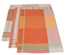 Betz. Set di 3 asciugapiatti strofinaccio canovaccio colori mediterranei la misura 50 x 70 cm, colore: arancione, giallo, verde