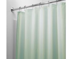 InterDesign Tenda doccia in tessuto, Tende per doccia in poliestere con orlo rinforzato, Tenda bagno lavabile con dimensioni di 183,0 cm x 183,0 cm, verde mare