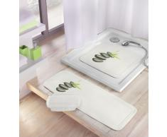 Kleine Wolke Zen 5363185002 - Tappetino per doccia, 55 x 55 cm, colore: Bianco/Nero
