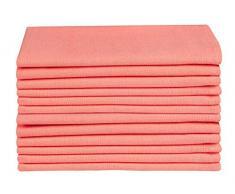 Clinica di Cotone 12 Pezzi Tovaglioli Stoffa 50x50 cm Cotone 100%, Morbidi e Confortevoli, qualità alberghiera duratura, Orange Tovaglioli Cotone per Eventi e Uso Domestico Regolare, Arancio