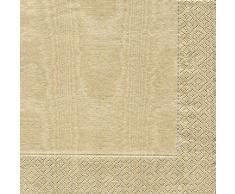 Caspari - Tovaglioli, 33 x 33 cm, 20 pezzi, colore: Oro