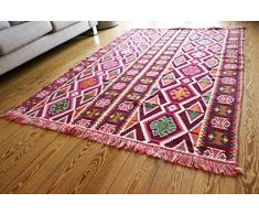 200 x 135?cm kilim orientale tappeto Kelim tappeto/pavimento tappetino tappeto nuovo realizzato in damasco Unst S 1 – 4?45