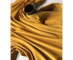 Confezioni separate di un metro di stoffa da sartoria pretagliata in cotone vellutato, colore dorato