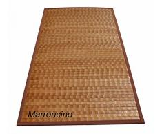 Bamboo tamburato tappeto passatoia cm 50x200 [ROSSO]