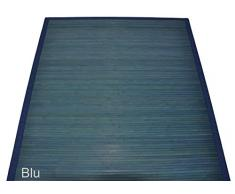 Bambù liscio tappeto passatoia cm 140x200 [ARANCIONE]
