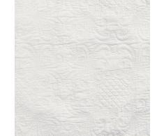Linder 5010 /10/835/180 Lutèce - Copriletto con 1 federa, in cotone trapuntato, 240 x 180 cm, colore: bianco