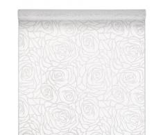Susy Card 11172129 - Runner da tavola in fibra tessile in organza, dimensioni: 40 cm x 1,50 m, bianco