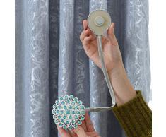 Vosarea 1 Pz Tenda Magnetica Tieback Portatile Senza Punzoni Magnete Tenda per Finestra Tenda Fibbia Tenda Cinghie Decorazione della Casa (Cielo-Blu)