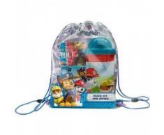 Kids Euroswan - Paw Patrol PW16027 Beach Set: asciugamano, borsa e una bottiglia d'acqua.