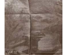 EVERGREENWEB - Trapunta Matrimoniale Marrone 260x260 cm Copriletto Invernale con Rivestimento Pile effetto Vellutato Imbottito in Morbida Microfibra di Poliestere 100% IPOALLERGENICO Lavabile, CHESTER