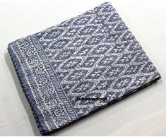 India Hand Block Print kantha letto copertura del Rajasthan vintage kantha Quilt, copriletto, coperta Queen Bed cover # 1