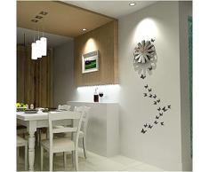 Ufengke® 12 Pezzi 3D Farfalle Adesivi Murali Fashion Design Diy Farfalla Arte Adesivi Da Parete Artigianato Decorazione Domestica, Viola Chiaro