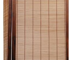Miliboo - Paravento 3 pannelli NIHA in abete e bambù