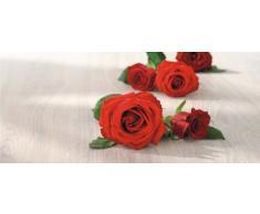 Bolsius 871784 Candela Profumata alla Rosa, Cera, Rosso, 6 x 6 x 12 cm