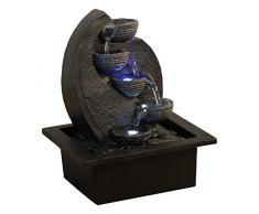 Zen'Light, Cascata-V2 fontana poliresina, colore: grigio/nero 17 x 21 x 26 cm