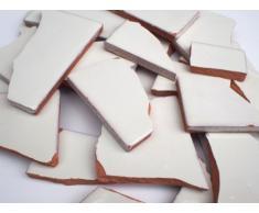 900 G di rottura mosaico, mosaico piastrelle in mano fabbricati messicano piastrelle - bianco Note (Chremeweiss)