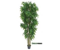 Bambù Grand e Gigante Pianta Albero Artificiale Plastica con Legno Naturale 210cm Decovego