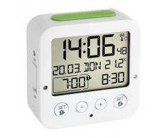 TFA Dostmann 60.2528.02 BINGO - Radio sveglia, colore: Bianco / Verde