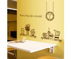 ufengke® Personalizzato Vasellame da Cucina Adesivi Murali, Tazze e Ciotole Thermos Adesivi da Parete Removibili/Stickers Murali/Decorazione Murale per la Cucina Sala da Pranzo