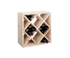 Zeller 13171 Portabottiglie di Vino, Legno, Beige, 52x25x52 cm, metallo