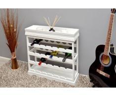 Portabottiglie In Legno Bianco.Porta Bottiglie Color Bianco Da Acquistare Online Su Livingo
