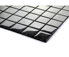 1qm vetro mosaico piastrelle 30 x 30 cm x 8 mm opaca in nero con strass (MT0088 m2)