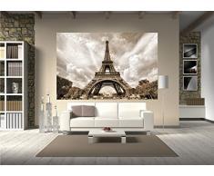 La Torre Eiffel Parigi FOTOMURALE- decorazione romantici smo XXL quadro poster - la Torre Eiffel Parigi tappezzeria da parete / decorazione da parete by GREAT ART (210 x 140 cm