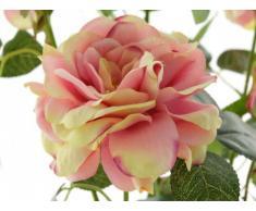 FK Automotive, Pianta finta di rose, con 3 fiori e 3 boccioli, Rosa (Rosa)
