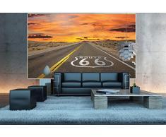 Route 66 FOTOMURALE- American highway tappezzeria da parete - poster XXL decorazione da parete GREAT ART® 140 cm x 100 cm