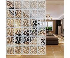 LAMPTOP - Paravento divisorio Fai da Te in PVC Ecologico, Semplice e Moderno, per finestre con Intaglio da 29 cm x 29 cm, Bianco