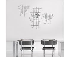 Jago Orologio da Parete   Design Moderno, Grande, Effetto Specchio   Decorazione per la Casa