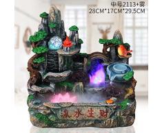 giardino roccioso fontana acquario bonsai feng shui regalo fortunato round pond ornamenti camera carica inaugurazione di apertura,tromba 2133 band nebulizzatore