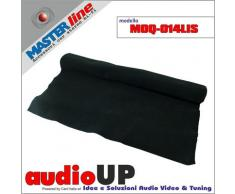 Moquette acustica fonotrasparente liscia colore nero. Dimensioni cm70x140