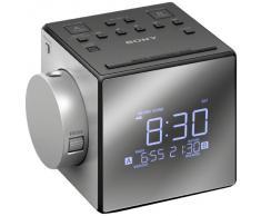 Sony ICF-C1PJ Radiosveglia con proiezione dell'orario, Argento